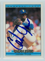Calvin Jones AUTOGRAPH 1992 Donruss Mariners 
