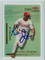 Kevin Jordan AUTOGRAPH 2001 Fleer Triple Crown Phillies 