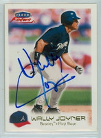 Wally Joyner AUTOGRAPH 2000 Fleer Focus Braves 