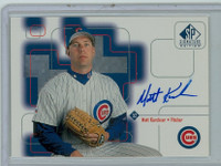 Matt Karchner AUTOGRAPH 1999 Upper Deck SP Signature Cubs CERTIFIED 