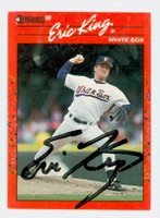 Eric King AUTOGRAPH 1990 Donruss White Sox 