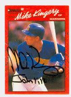 Mike Kingery AUTOGRAPH 1990 Donruss Mariners 