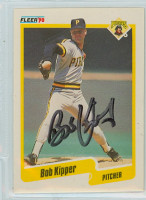 Bob Kipper AUTOGRAPH 1990 Fleer Pirates 