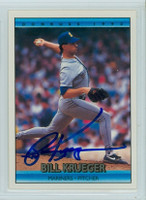 Bill Krueger AUTOGRAPH 1992 Donruss Mariners 