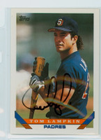 Tom Lampkin AUTOGRAPH 1993 Topps Padres 