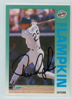 Tom Lampkin AUTOGRAPH 1992 Fleer Padres 