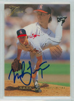 Mark Langston AUTOGRAPH 1993 Fleer Flair Angels 