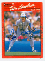 Tom Lawless AUTOGRAPH 1990 Donruss Blue Jays 