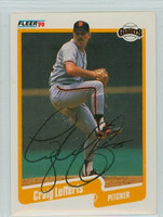 Craig Lefferts AUTOGRAPH 1990 Fleer Giants 