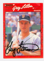 Greg Litton AUTOGRAPH 1990 Donruss Giants 