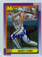 Barry Lyons AUTOGRAPH 1990 Topps Mets 