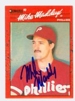 Mike Maddux AUTOGRAPH 1990 Donruss Phillies 