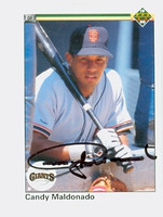 Candy Maldonado AUTOGRAPH 1990 Upper Deck Giants 