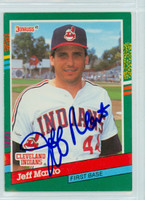 Jeff Manto AUTOGRAPH 1991 Donruss Indians 