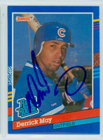 Derrick May AUTOGRAPH 1991 Donruss Cubs 