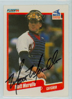 Matt Merullo AUTOGRAPH 1990 Fleer White Sox 