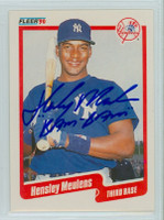 Hensley Meulens AUTOGRAPH 1990 Fleer Yankees 
