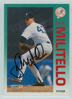 Sam Militello AUTOGRAPH 1992 Fleer Yankees 