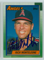 Rich Monteleone AUTOGRAPH 1990 Topps Angels 