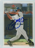 Eric Munson AUTOGRAPH 2001 Fleer Triple Crown Tigers 