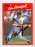 Ken Oberkfell AUTOGRAPH 1990 Donruss Giants 