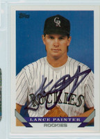 Lance Painter AUTOGRAPH 1993 Topps Rockies 