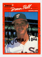 Donn Pall AUTOGRAPH 1990 Donruss White Sox 