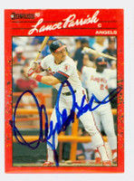Lance Parrish AUTOGRAPH 1990 Donruss Angels 