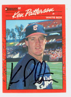 Ken Patterson AUTOGRAPH 1990 Donruss White Sox 