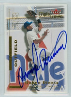 Ruben Rivera AUTOGRAPH 2001 Fleer Triple Crown Padres 