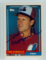 Tom Runnells AUTOGRAPH 1992 Topps Expos 
