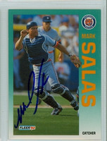 Mark Salas AUTOGRAPH 1992 Fleer Tigers 