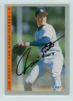 Tim Scott AUTOGRAPH 1993 Fleer Padres 