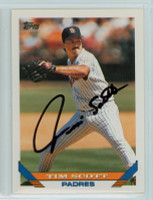 Tim Scott AUTOGRAPH 1993 Topps Padres 