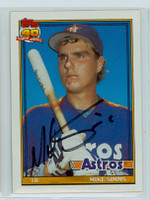Mike Simms AUTOGRAPH 1991 Topps Astros 