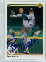 Roy Smith AUTOGRAPH 1990 Upper Deck Twins 