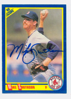 Mike Smithson AUTOGRAPH 1990 Score Red Sox 