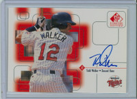 Todd Walker AUTOGRAPH 1999 Upper Deck SP Signature Twins CERTIFIED 