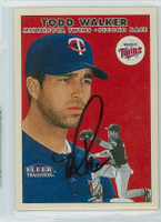 Todd Walker AUTOGRAPH 2000 Fleer Tradition Twins 