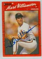 Mark Williamson AUTOGRAPH 1990 Donruss Orioles 