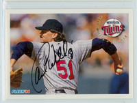 Carl Willis AUTOGRAPH 1994 Fleer Twins 