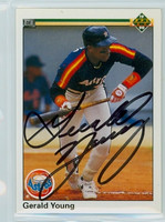 Gerald Young AUTOGRAPH 1990 Upper Deck Astros 