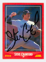 Steve Crawford AUTOGRAPH 1988 Score Red Sox 