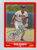 Doug DeCinces AUTOGRAPH 1988 Score Angels 