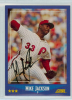 Mike Jackson AUTOGRAPH 1988 Score Phillies 