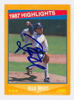 Juan Nieves AUTOGRAPH 1988 Score Brewers Highlight 