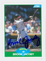 Brook Jacoby AUTOGRAPH 1989 Score Indians 