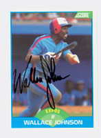 Wallace Johnson AUTOGRAPH 1989 Score Expos 