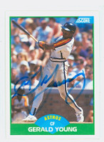 Gerald Young AUTOGRAPH 1989 Score Astros 