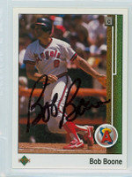 Bob Boone AUTOGRAPH 1989 Upper Deck Angels 
